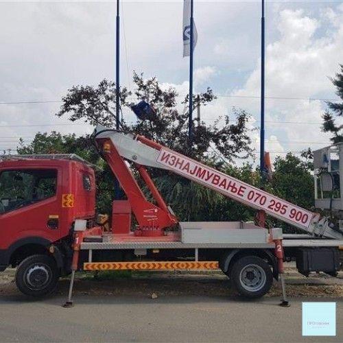 Kamion so korpa za sekakva rabota na visina do 27m